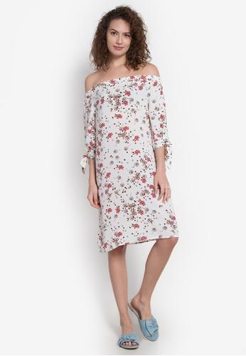 Spring Fling multi Offshoulder Floral Print Dress SP673AA0JZASPH_1