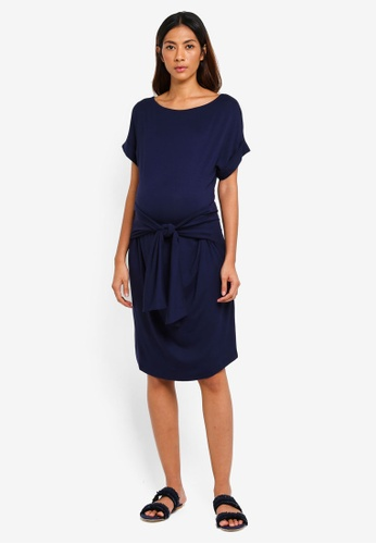 JoJo Maman Bébé navy Maternity Tie Dress 7D825AABA57470GS_1