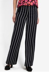 WAREHOUSE black Stripe Trousers WA653AA84LUPMY_1