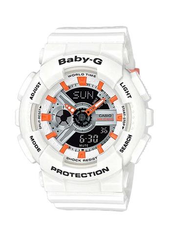 CASIO white Casio Baby-G Tandem Orange and White Resin Watch 89BCBAC43079EBGS_1