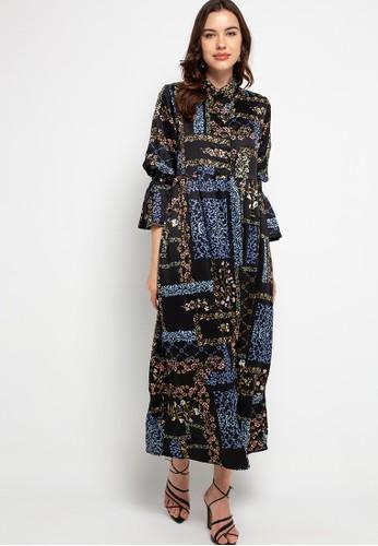 Covering Story black Sasiky Dress 1391DAABBAF038GS_1