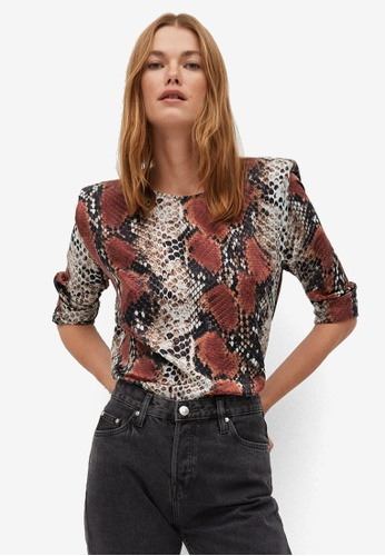 Mango multi Printed Shoulder Pad Blouse 9F8FBAA3354C53GS_1