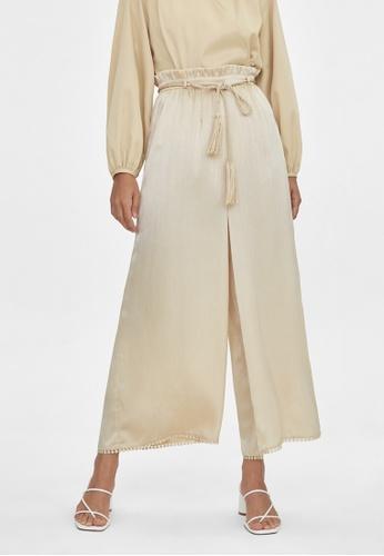 Pomelo multi Tassel Belt Culotte Pants - Gold 5EE7CAA0AA39FBGS_1