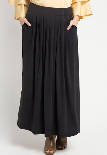 Imperial black Wide Ruffe Skirt IM955AA41KCSID_1