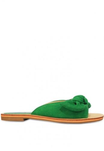 HDY green Cherry Slide Flat Sandals F485CSH9D3A2CBGS_1