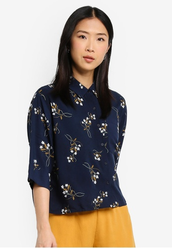 Cotton On navy Rebecca Chopped Shirt 38362AA4090F37GS_1