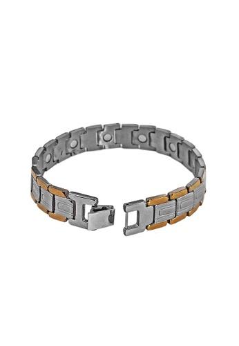 Elfi Stainless Steel Magnetic Power Energy Health Bracelet Bangle 03