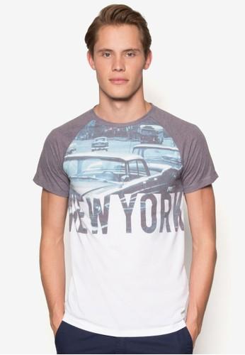 撞色拼肩圖文T 恤、 服飾、 服飾ESPRIT撞色拼肩圖文T恤最新折價