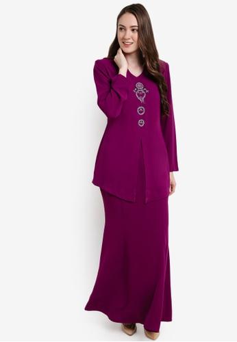 Butik Sireh Pinang purple Bella Donna Kebaya Modern BU003AA79SFCMY_1