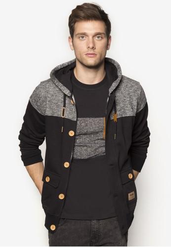 Deen 撞色拼接連帽拉鍊esprit retail外套, 服飾, 外套