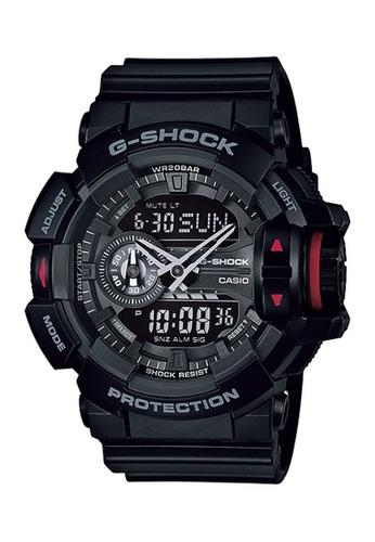 G-SHOCK black and red CASIO G-SHOCK GA-400-1B 7C6BAACE7A03ACGS_1