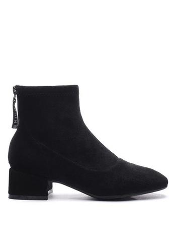 Twenty Eight Shoes 黑色 仿猄布踝靴2028-2 62A19SH939750AGS_1