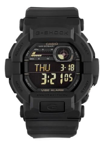 Casio black Casio G-SHOCK Jam Tangan Pria - Black- Silicon - GD-350-1BDR CA347AC0VKA1ID_1