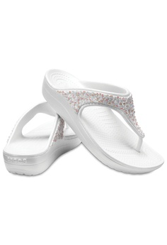 96d8d0a75d17 30% OFF Crocs Women s Crocs Sloane Embellished Flip Oys Multi RM 197.00 NOW  RM 137.90 Sizes 6 7 8 9