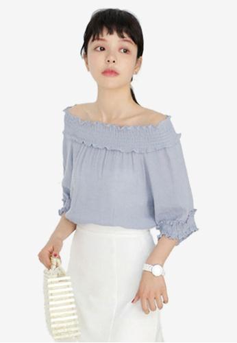 Shopsfashion blue Two-Way Blouse 62788AA3AF9C64GS_1