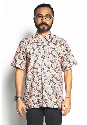 STARVILION brown Batik Shirt Short Sleeve D17FFAABD730C4GS_1