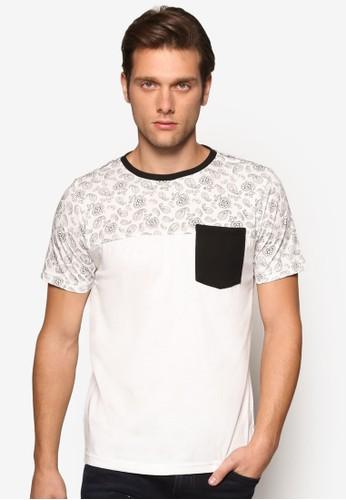 印花口袋短袖TEE, 服飾, 印圖esprit 香港T恤