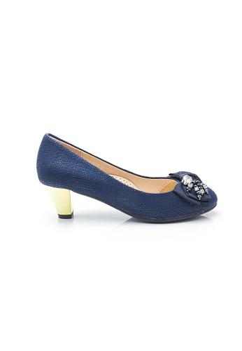 Elisa Litz blue Olivia Low-Heels (Blue) 59A2BSH39CC0B7GS_1