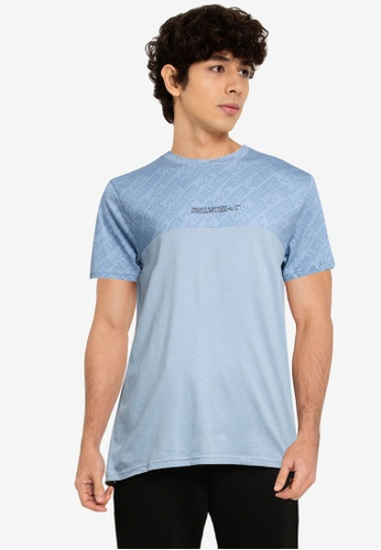 Hollister blue Blocking Crew Neck T-Shirt 63A5DAAD86F08AGS_1