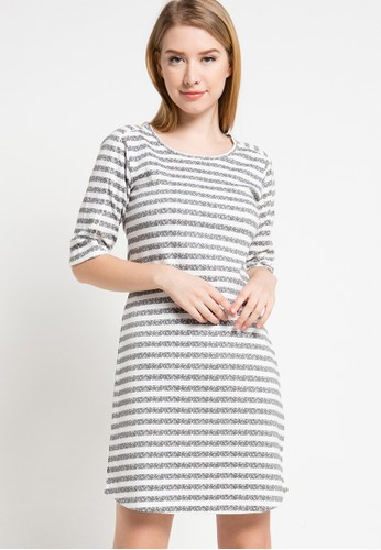 WHITEMODE grey Francesca Dress WH193AA33DQWID_1