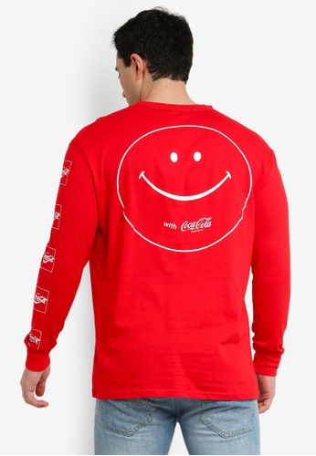 Cotton On 紅色 長袖印花T恤 FF5B0AA79629B4GS_1