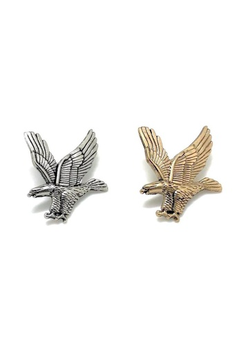 The Little Link Cufflinks gold Eagle Collar Pin - Gold TH089AC0G4XESG_1