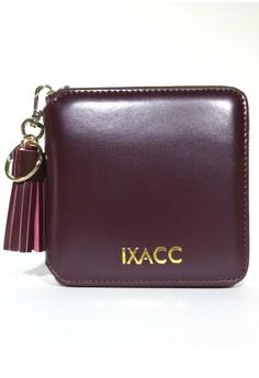 Fringe Leather Zip Wallet