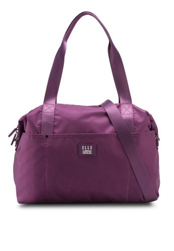 ELLE purple Herene Tote Bag EL900AC0SJM0MY_1