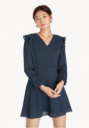 Pomelo blue Frill Mini Dress - Navy 57DB5AAC0F167EGS_1