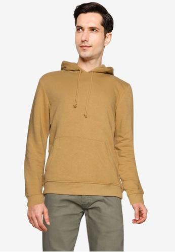 Brave Soul brown Over Head Sweat Kangaroo Pocket Sweatshirt 8017EAA02FE3B7GS_1