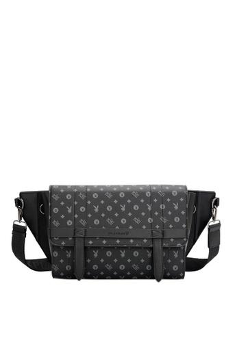Playboy black Men's Sling Bag / Chest Bag / Crossbody Bag 7A916ACD7117ABGS_1