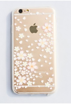 Falling Flowers Soft Transparent Case for iPhone 6/6s