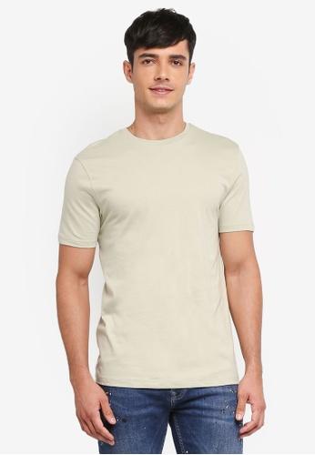 Topman 綠色 素色短袖T恤 33B08AA4AEC951GS_1