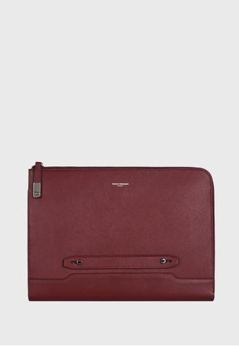 Tocco Toscano red Pomino L-Zip Portfolio Clutch (Maroon) TO281AC0F6LHSG_1