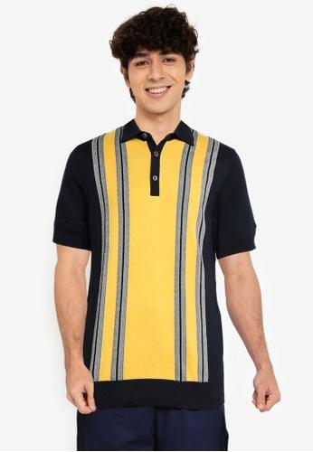 Ben Sherman navy Mod Stripe Polo Shirt C9BE8AA5F2514AGS_1