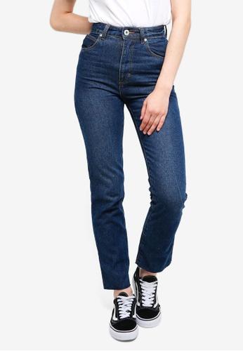 Factorie blue High Waist Straight Leg Jeans C3FE1AA180B0BCGS_1