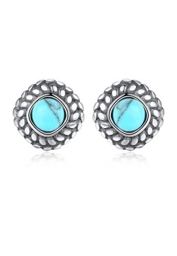 SUNRAIS silver High-end Silver S925 silver fashion earrings D8A0AAC2E2013BGS_1
