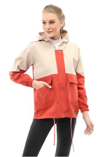 Hamlin orange Hardwin Jaket Parka Combo Jacket Outer Wanita Fashionable Material Baby Canvas ORIGINAL - Coral F3FE2AA87BC719GS_1