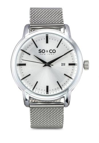SO&CO silver Madison Watch 5207 SO540AC0SHLWMY_1