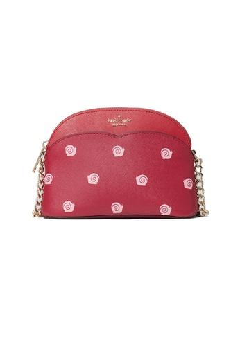 Kate Spade red and multi Kate Spade Payton Small Dome Crossbody With Snail Print WLRU6303 8DE62AC941DAEFGS_1