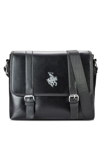 Swiss Polo black Swiss Polo Messenger Bag SW912AC11MFGMY_1