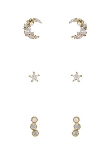 ALDO gold Asigowiel-W Pierced Earrings 8C85CACD826896GS_1