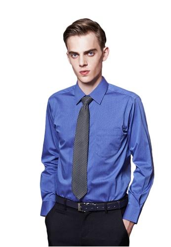 Life8 blue Italian Jacquard Business Shirt-11027-Blue LI283AA70EOBSG_1