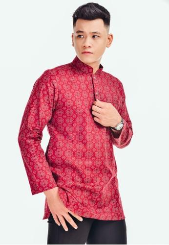 UA BOUTIQUE red Kurta Batik KLB01-031 (Maroon) 10BDAAA4F93423GS_1