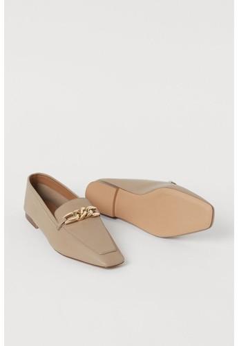 H&M beige Chain-detail loafers FD8E9SHF1566A0GS_1