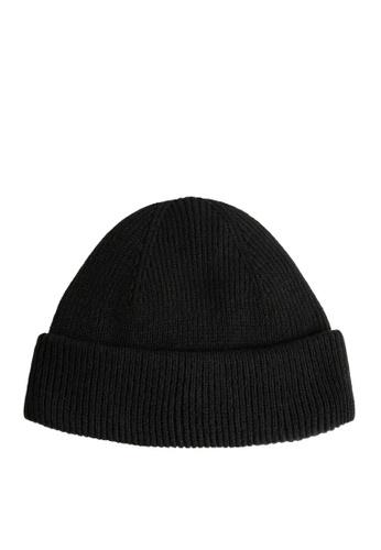 MANGO Man black Short Knit Beanie 177D6ACF46C9C6GS_1