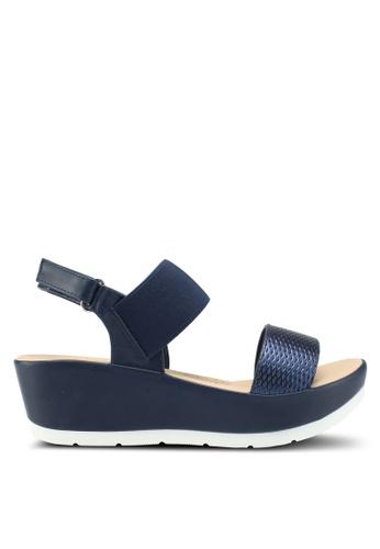 Bata blue Slip On Wedges F0892SH1BD5492GS_1