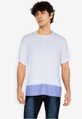 ZALORA BASICS multi Checked Hem T-Shirt 3C9CFAA8ED1D77GS_1