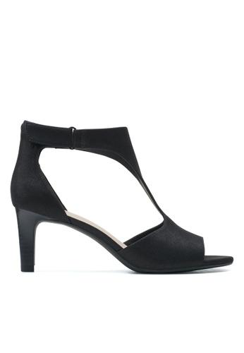 Clarks CLARKS Alice Flame Black Metallic Textile Womens Dress Sandals 4A450SHC2EA741GS_1