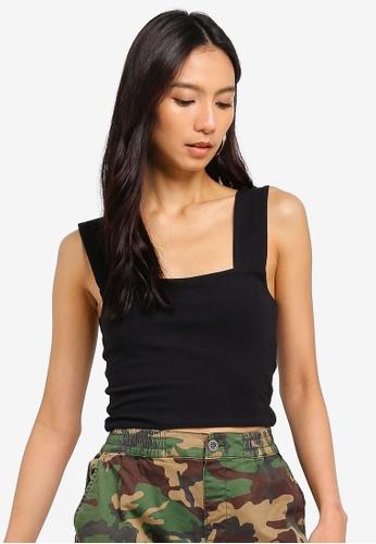 Cotton On black Molly Wide Strap Tank Top 3CEEBAAA73D7C2GS_1